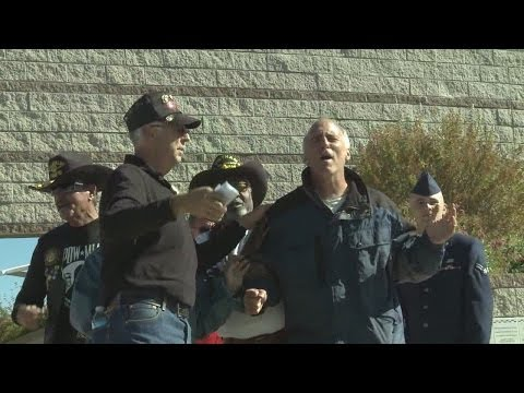 Man interrupts Veterans Day ceremony with loud abortion protest