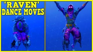 FORTNITE *NEW* 'RAVEN' SKIN SHOWCASED WITH 45 DANCE MOVES/EMOTES! | Fortnite Dance Moves!