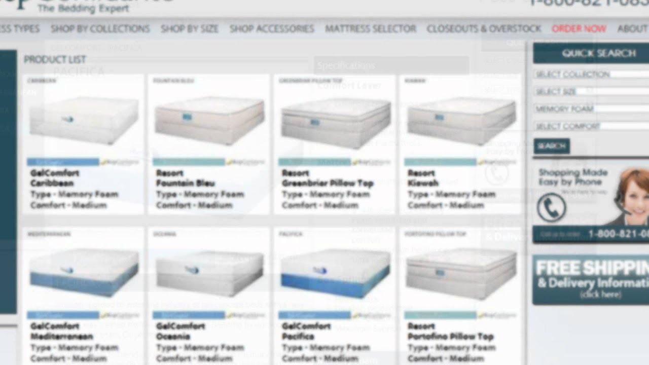 Buy The Pacifica Mattress By Jamison Memory Foam Sleep