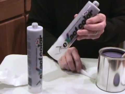 Diy How To Mix Custom Colored Caulk Youtube