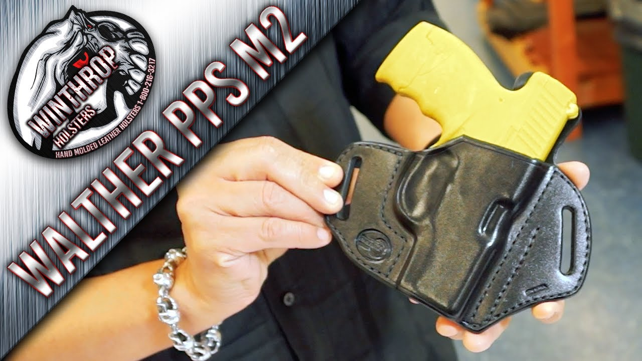 Walther PPS M2 OWB Black Leather Holster By: WinthropHolsters com