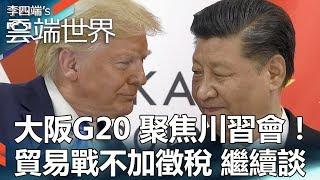 大阪G20 聚焦川習會!貿易戰不加徵稅 繼續談 - 李四端的雲端世界