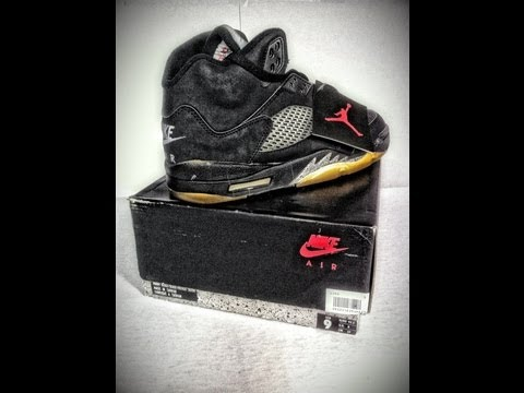 ff94fe98f39 1990 ORIGINAL AIR JORDAN V 5 METALLIC DETAILED LOOK HD HIGH DEFINITION 1080P