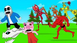 Sans, Angry Siren Head,Piggy Battle +More | Roblox Piggy Animation  GV Studio