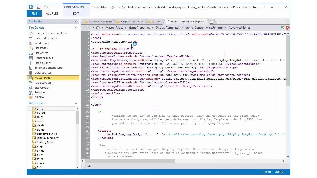 Breaking Down Display Templates - Demo 2 - Create a Custom Display ...