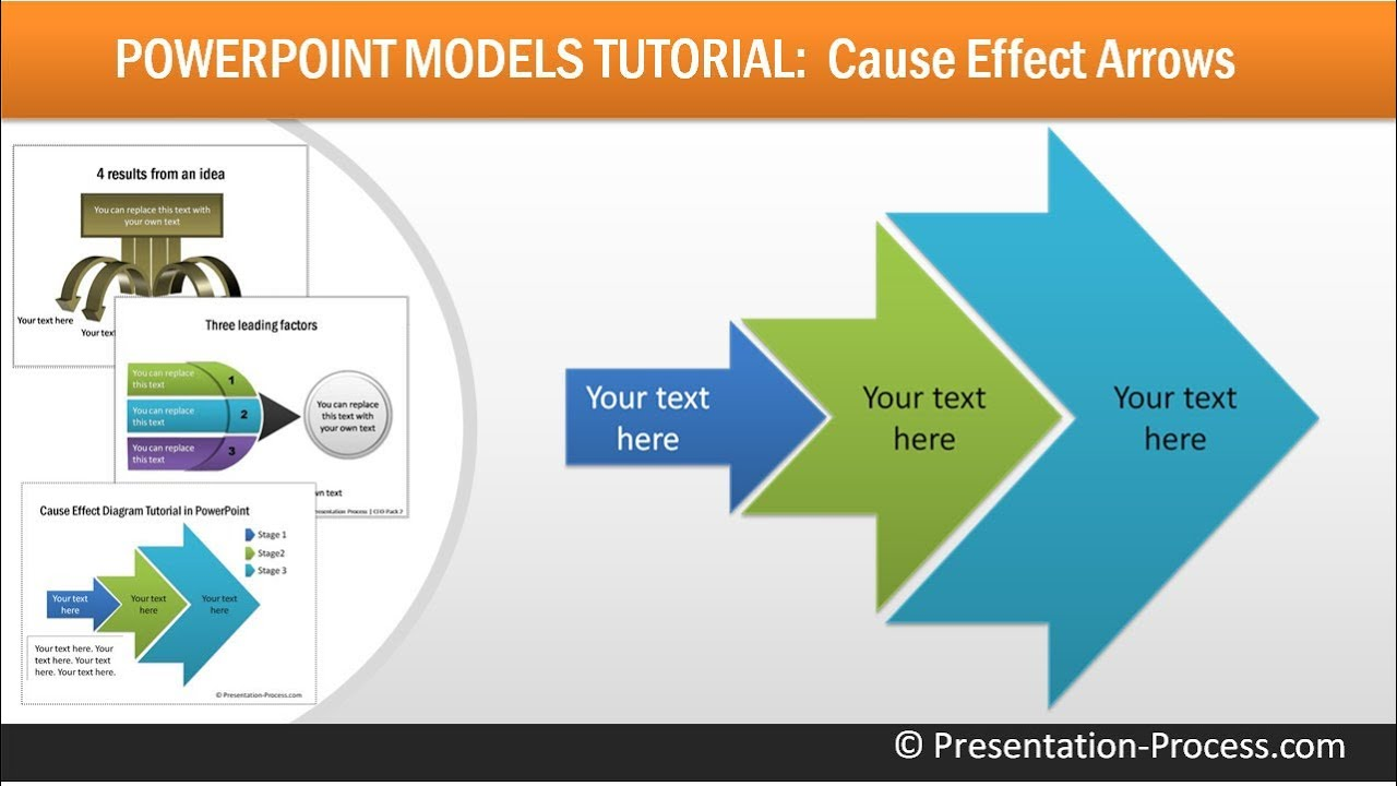 create cause effect arrows in powerpoint : consulting models, Powerpoint templates
