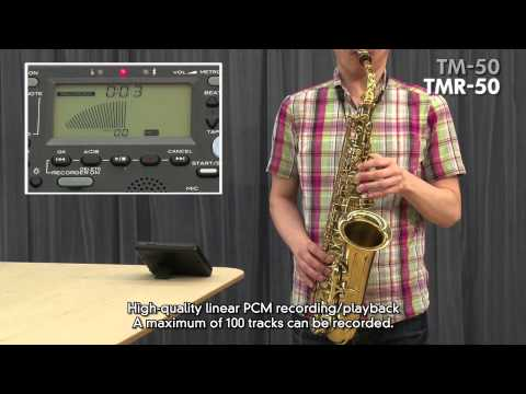 Korg TM50 TunerMetronome and Korg TMR50 TunerMetronomeRecorder Product Overview