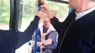Vecchio impazzito su autobus 24 Actv 28/09/2012