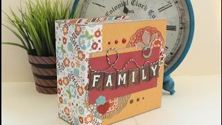 мК - Как сделать скрап альбом - Семейный альбом на магнитах - I love family by Echo park