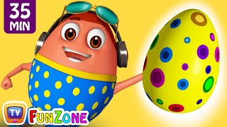 Learn YELLOW Colour with Johny Johny Yes Papa | Surprise Eggs Colors Ball Pit Show | ChuChuTV 3D Fun thumbnail