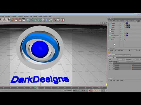 Cinema4D Tut- How to make a spinning avatar for forums (2/2)