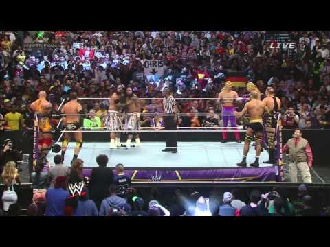 wwe wrestlemania XXX all entrances for tag team championships