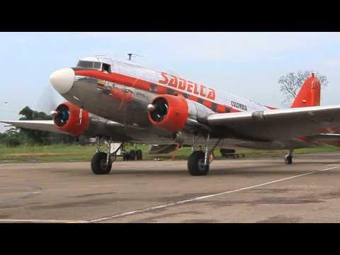 Sadelca DC-3 HK-2494 engine start up