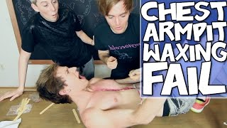 Repeat youtube video CHEST & ARMPIT WAXING GONE WRONG