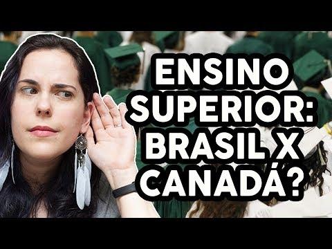 DIFERENÇAS ENTRE ESTUDAR NA UNIVERSIDADE NO BRASIL E NO CANADÁ