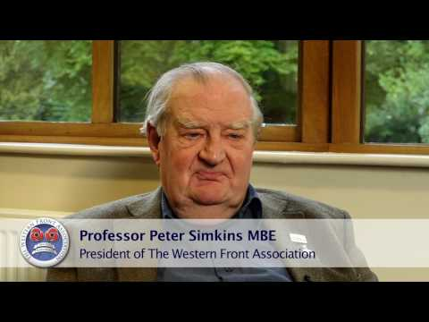Interview with Prof Peter Simkins, President of The Western Front Association