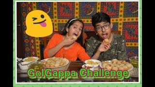 PANI PURI / GOLGAPPA EATING CHALLENGE | Brother Sister | Food Challenge, Hindi video, kids challenge