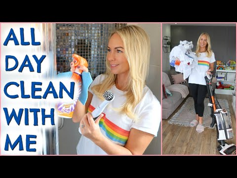 ALL DAY CLEAN WITH ME!  ENTIRE HOUSE  |  CLEANING MOTIVATION
