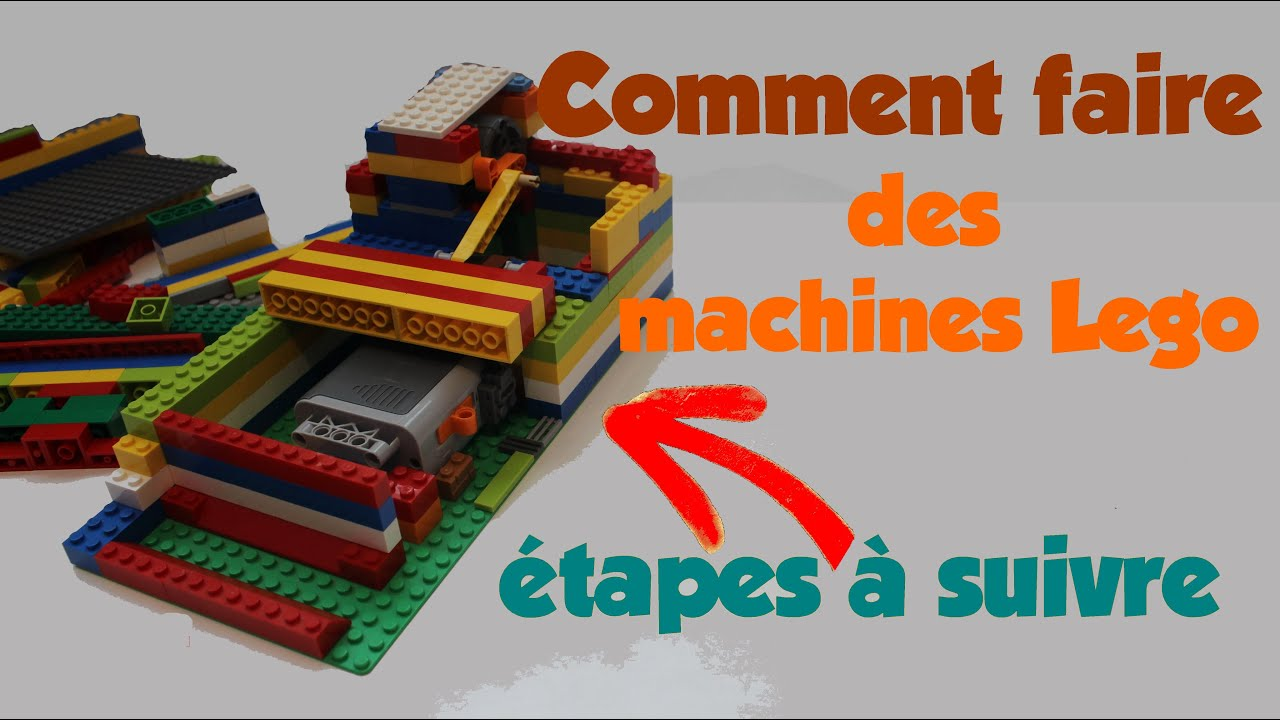 tuto comment faire des machines lego les tapes de construction youtube. Black Bedroom Furniture Sets. Home Design Ideas