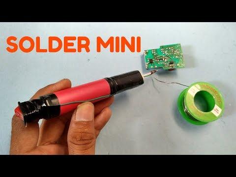 Cara membuat Solder Mini menggunakan Baterai 3.7v