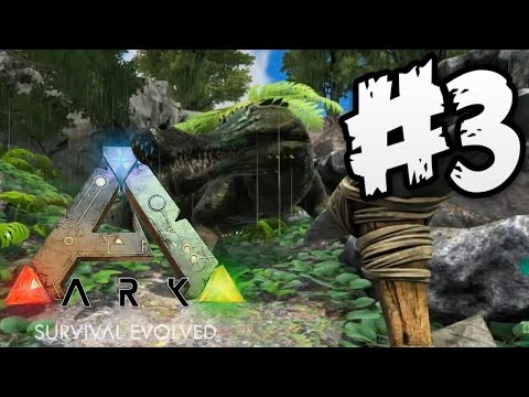 Ark Survival Evolved Gameplay | GIANT CROCODILE ATTACK!! | PART 3 (HD)