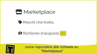Come rispondere alle richieste su Marketplace
