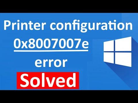 fix Printer configuration error 0x8007007e in windows 10 , 100% working