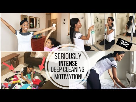 SERIOUSLY INTENSE DEEP CLEANING MOTIVATION!! REAL LIFE CLEANING MOTIVATION // CLEAN WITH ME // SAHM