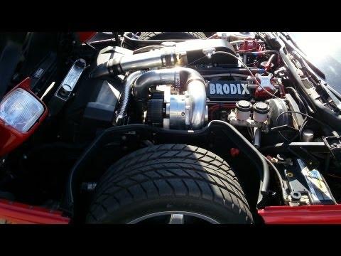 Corvette C4 Procharger F1R @ 293km/h 1.000m  - Roll racing
