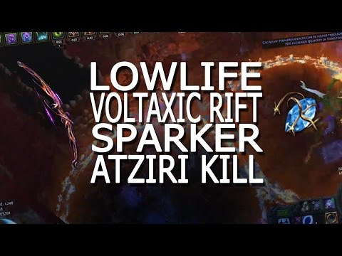 [PoE] 2.2 Deadeye/Berserker Low Life Voltaxic Spark / Vaal Spark Atziri Kill