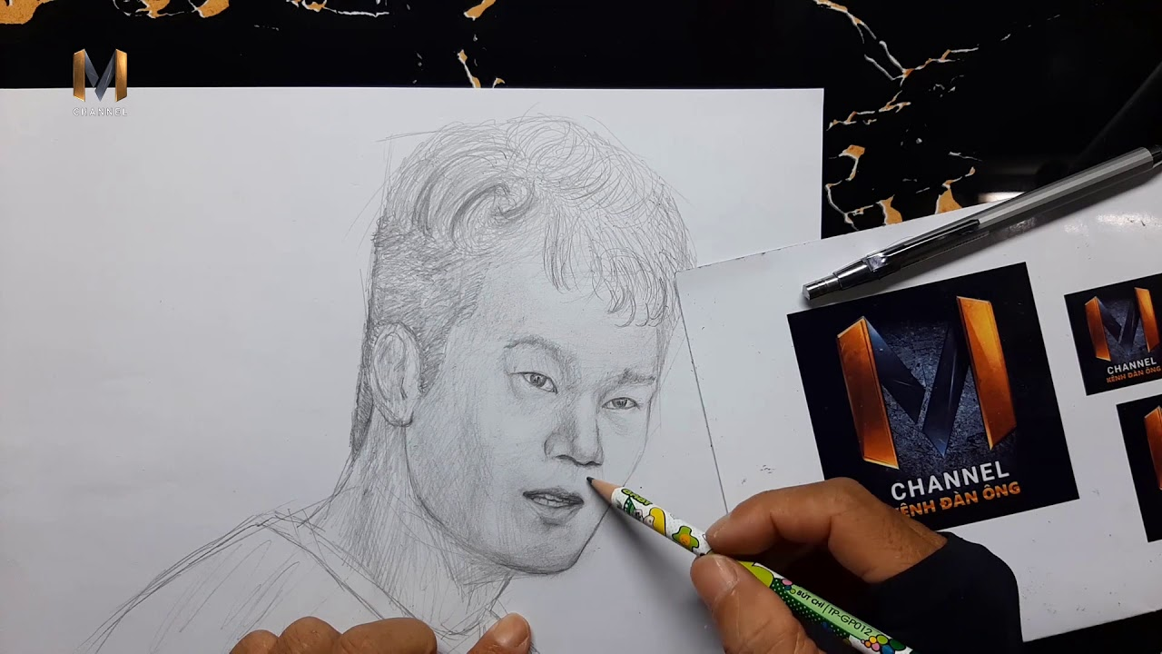Vẽ tranh Nguyễn Thành Chung bằng bút chì tuyệt đẹp I Cầu thủ Nguyễn Thành Chung I MChannel