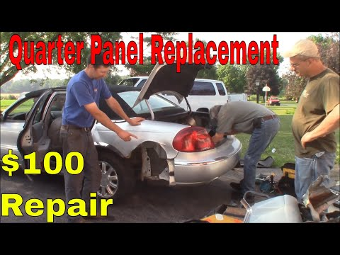 How to Replace a Quarter Panel:  $100 Lincoln Fix