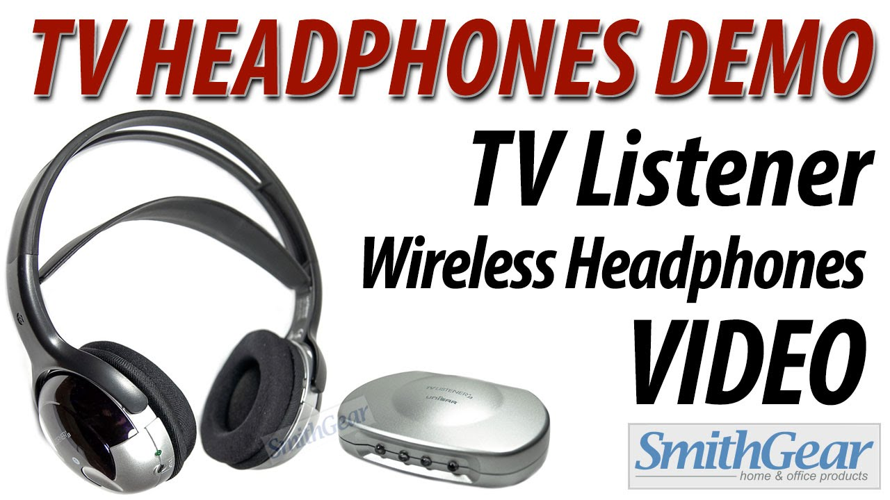 3a02558e012 Television Headphones TV Listener Demo from SmithGear - YouTube