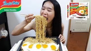 [MUKBANG] Indomie Fried Noodles Mi Goreng | Indonesian Noodles