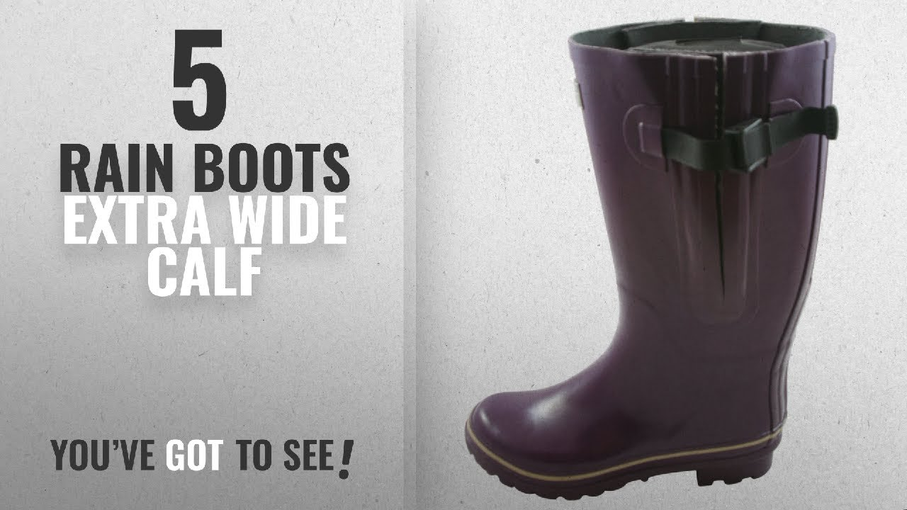 865fa482e00e Top 5 Rain Boots Extra Wide Calf  2018   Jileon Extra Wide Calf ...