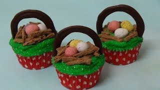 Cupcake Easter Egg Nests