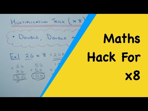Multiplication Maths Trick For Your 8 Times Tables Quick Method X8