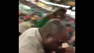 Black Security Guard Punches Drunk White Girl