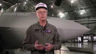 Former test pilot Paul Metz speaks about the F-22 Raptor
