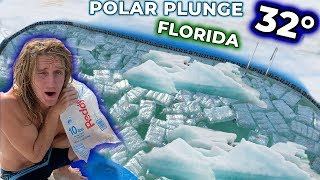POLAR PLUNGE CHALLENGE IN FLORIDA!! (Filled My Pool With Icebergs)