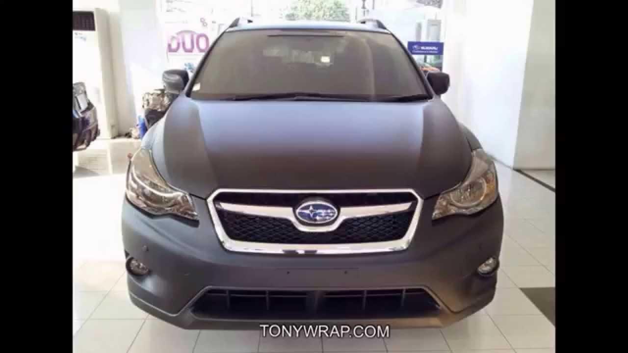 Matt Black Subaru Xv Wrap By Tony Wrap Www Tonywrap Com