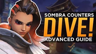 Overwatch: Sombra COUNTERS DIVE! - Advanced Guide