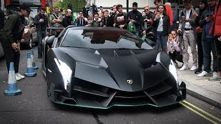 $7 Million Lamborghini Veneno Roadster causes chaos in Central London!!!