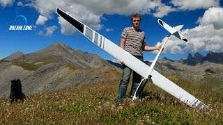 Flying into the wild (Emparis) with an Alpina 4001 Pro Tangent - RC electric glider
