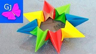 Оригами Калейдоскоп из бумаги ❀ Движущиеся поделки своими руками