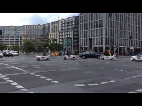 Small funny cars in the center of Berlin 2014 Germany / Love Travel