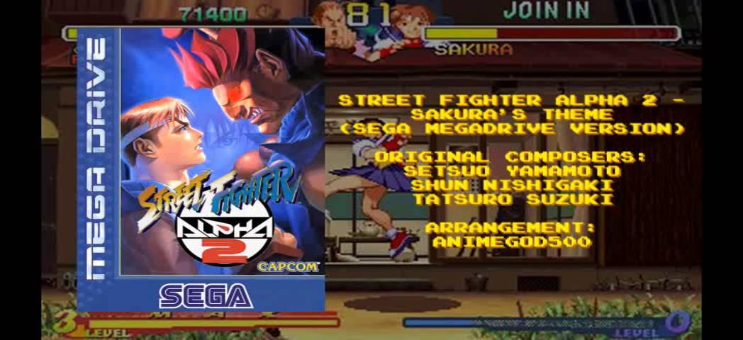 Street Fighter Alpha 2 - Sakura's Theme (Sega Megadrive Version)