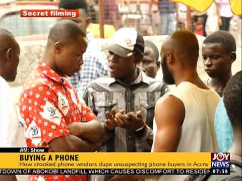 How crooked phone vendors dupe unsupecting phone buyers in Accra