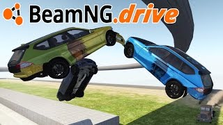 EXTREME CRASH TEST SITE MAP Multi Car Aerial Slow Mo Ramp Crashes - BeamNG.Drive Gameplay Highlights