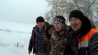 Зимняя рыбалка на Цимле. Река и большая вода. Отдых в кругу друзей. Рыбалка 2019